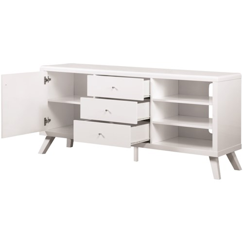 Coaster TV Stands Contemporary High Gloss TV Stand