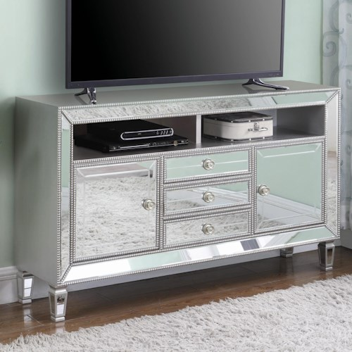 Coaster TV Stands Glam Mirrored 60