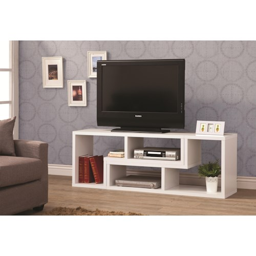 Coaster TV Stands Convertible TV Console and Bookcase Combination