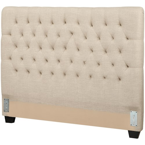 Coaster Upholstered Beds California King Upholstered Headboard with Tufting in Light Color Fabric