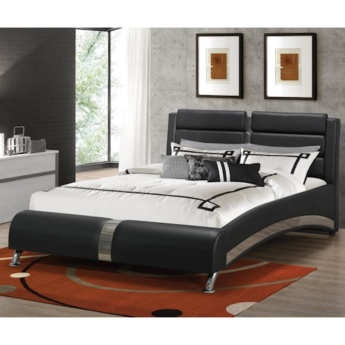 Coaster Upholstered Beds Modern California King Jeremaine Upholstered Bed