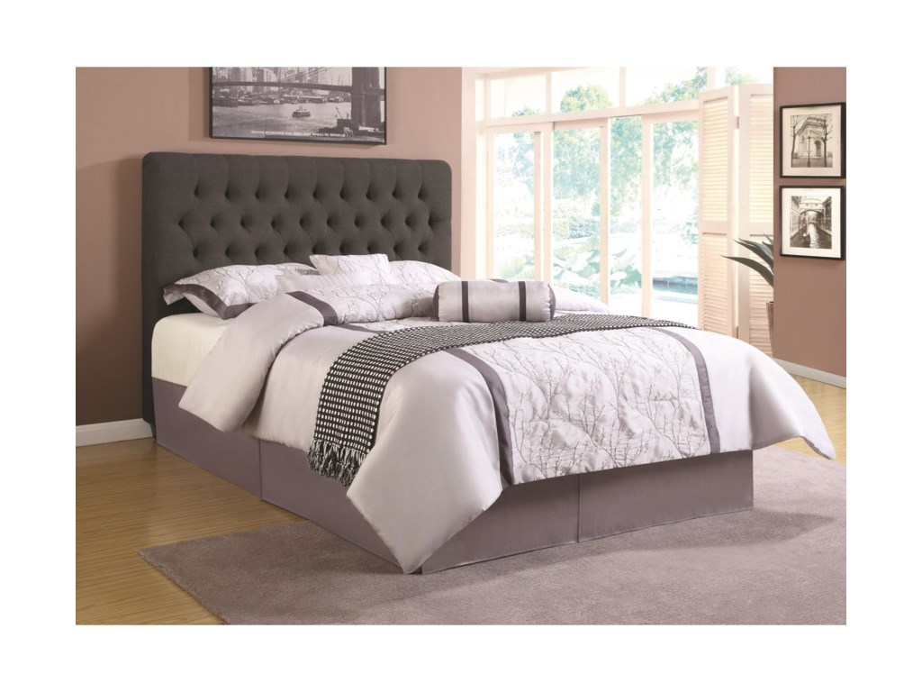 Coaster upholstered bedstwin headboard