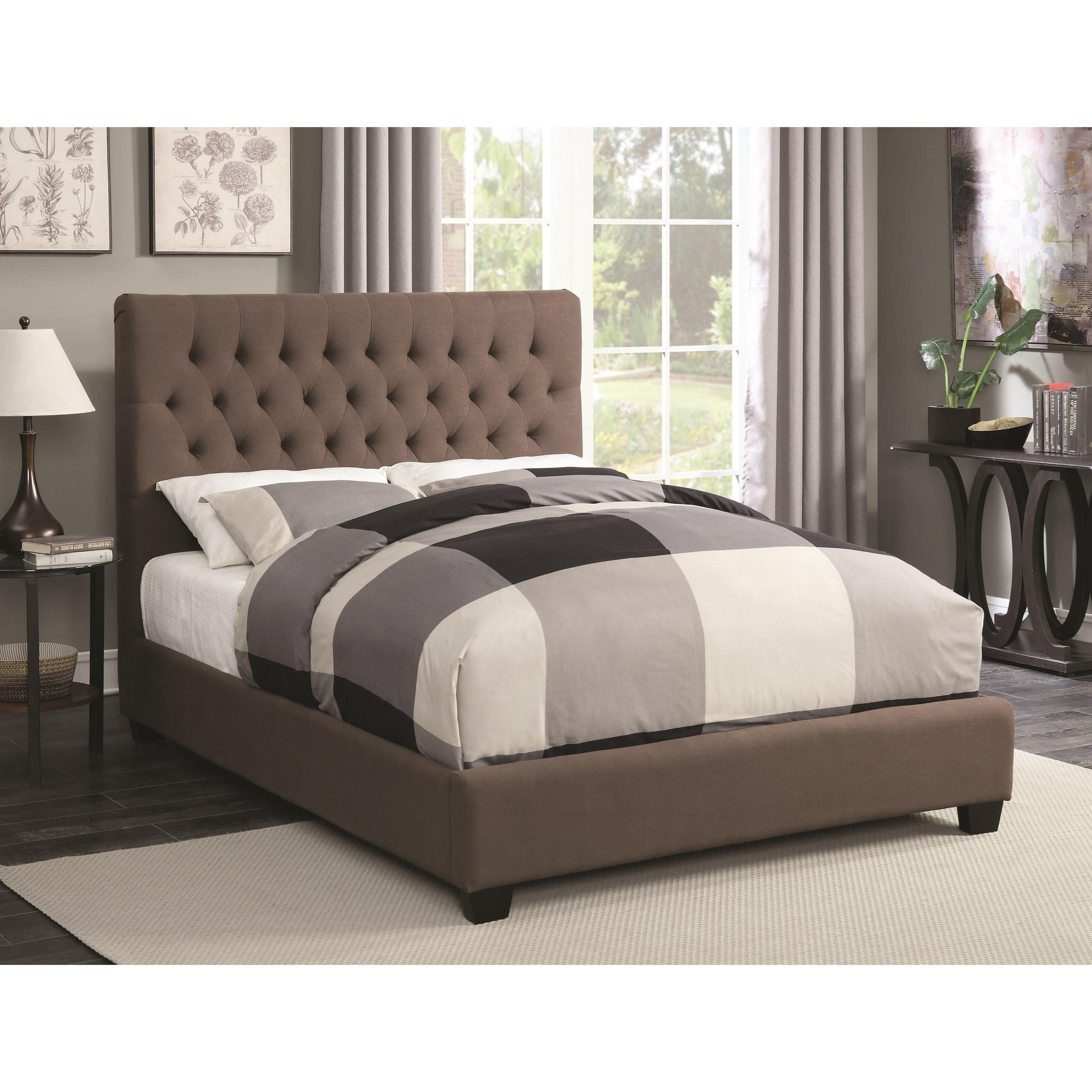 coaster upholstered beds queen chloe upholstered bed with tufted, Headboard designs