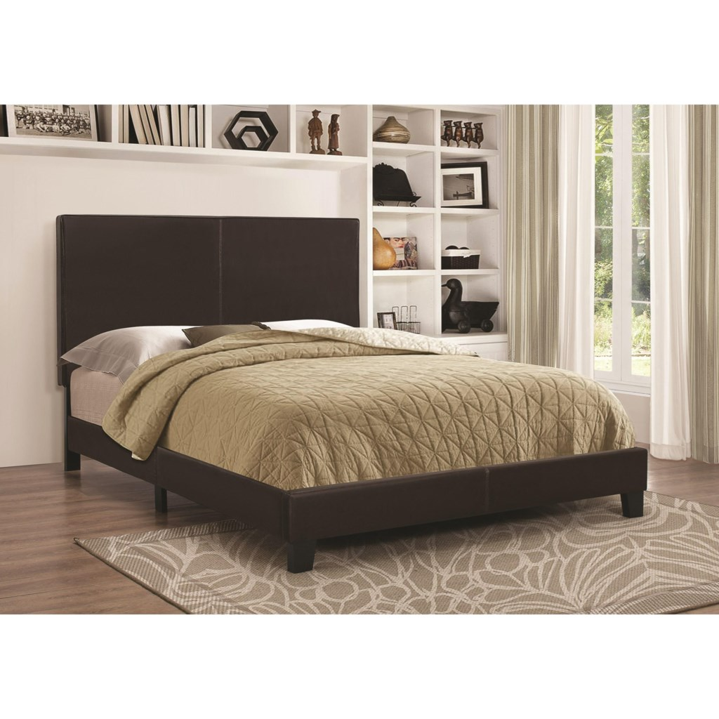 Coaster Upholstered Beds Upholstered Low Profile Queen Bed Value