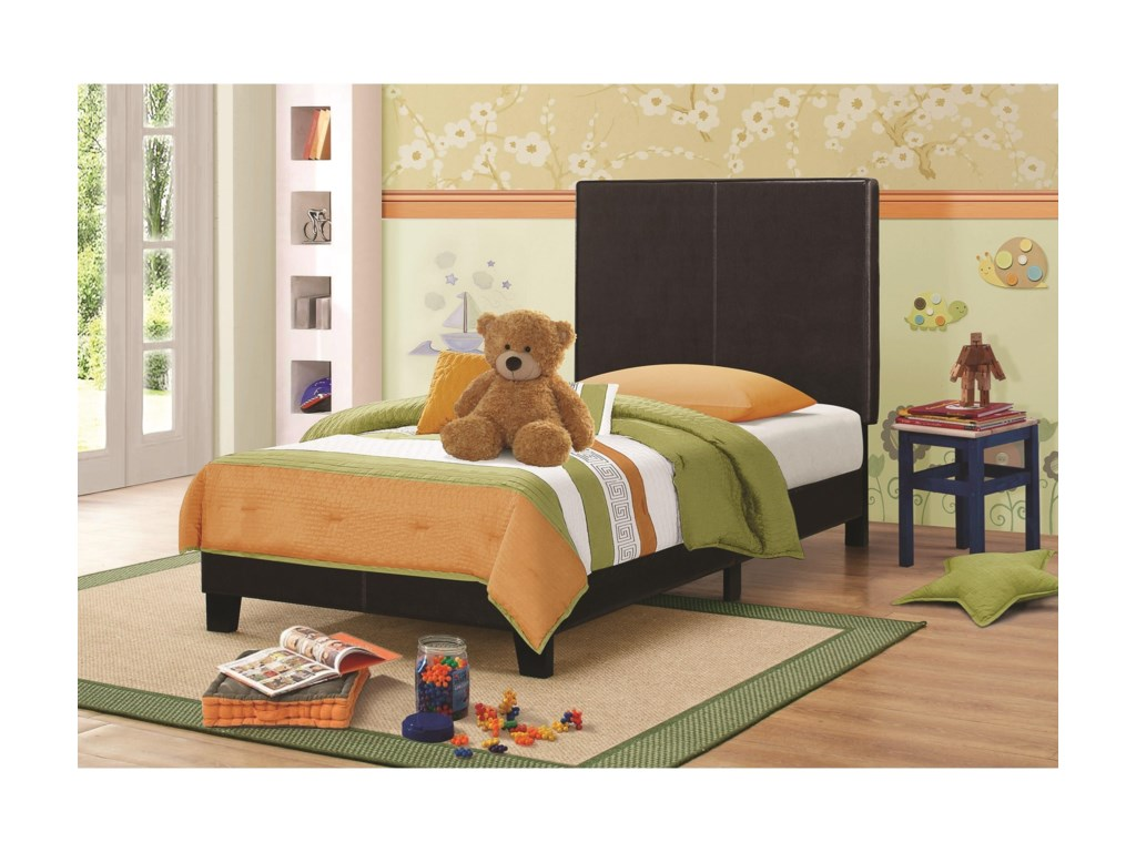Coaster Upholstered Beds Upholstered Low Profile Twin Bed Value