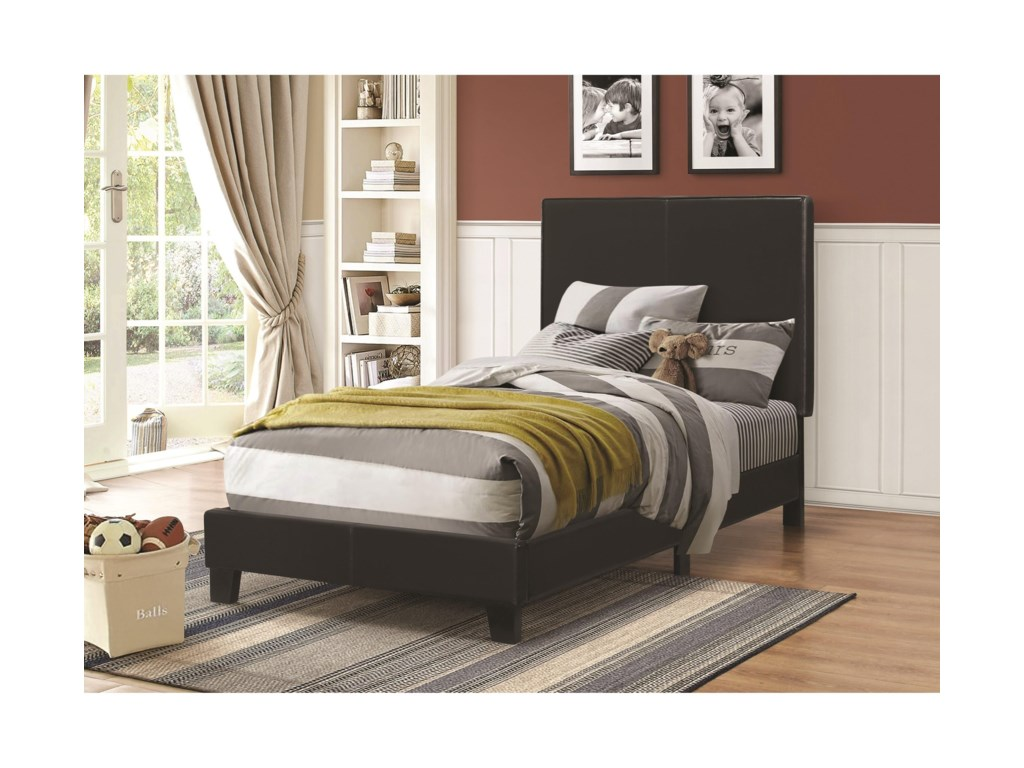 Upholstered Beds Low Profile Twin Bed By Coaster