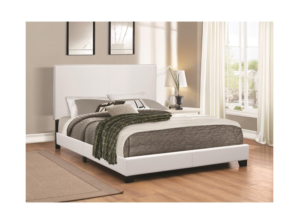 Upholstered Beds Low Profile Queen Bed By Coaster