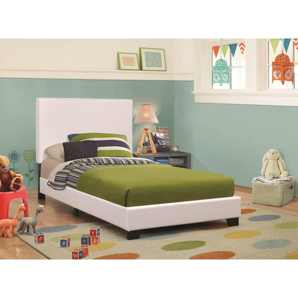coaster upholstered beds 300559t upholstered low profile twin bed