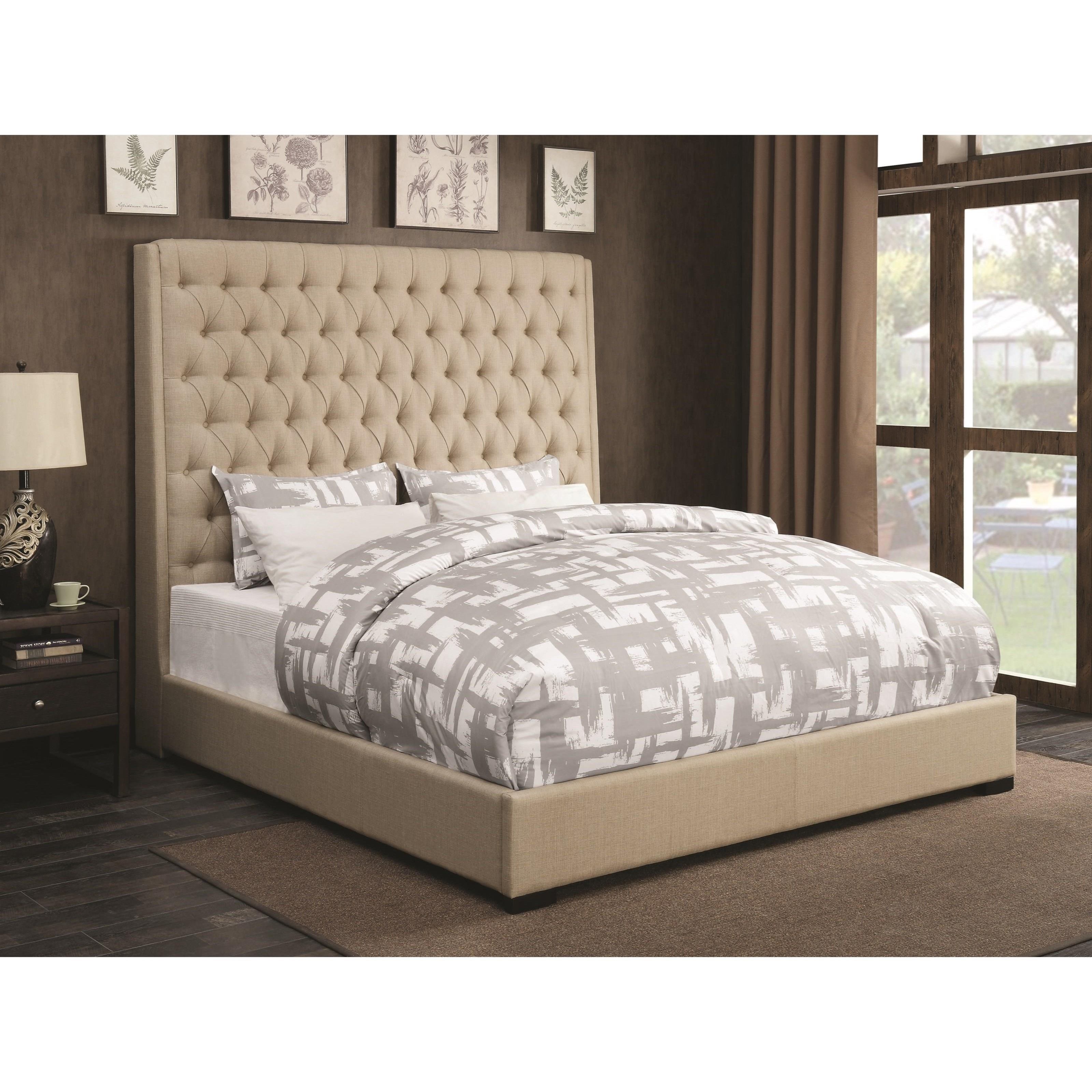 Upholstered Beds Upholstered California King Bed With Diamond Tufting By  Coaster