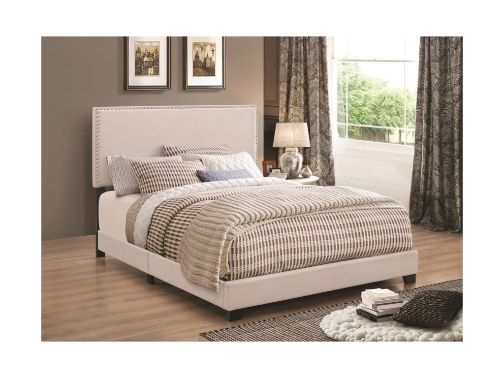 e0d04c695e0cb Coaster Upholstered Beds Upholstered California King Bed with Nailhead Trim