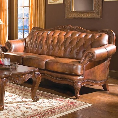 Coaster Victoria Classic Rolled Arm Sofa