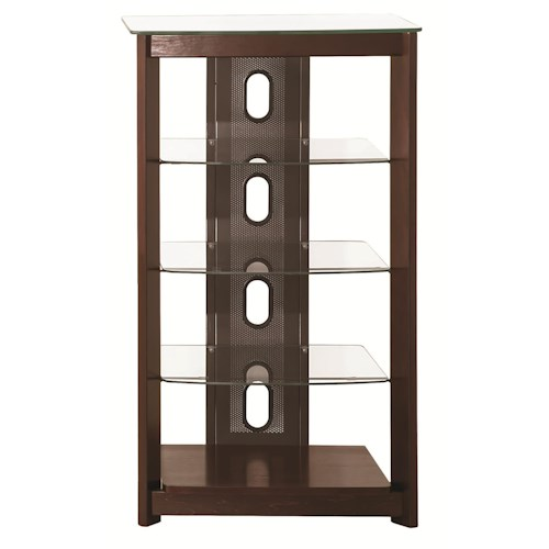 Coaster Entertainment Units Media Tower w/ Glass Shelves