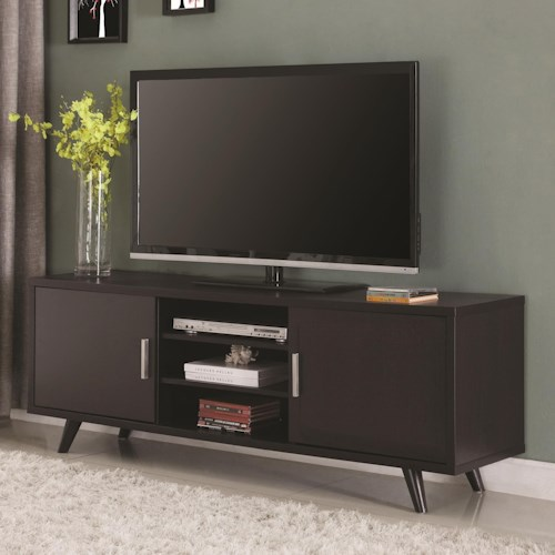 Coaster Entertainment Units Mid-century Modern TV Console