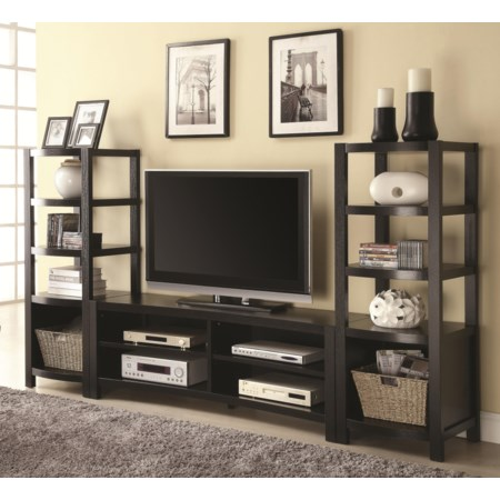 TV Console & 2 Media Towers