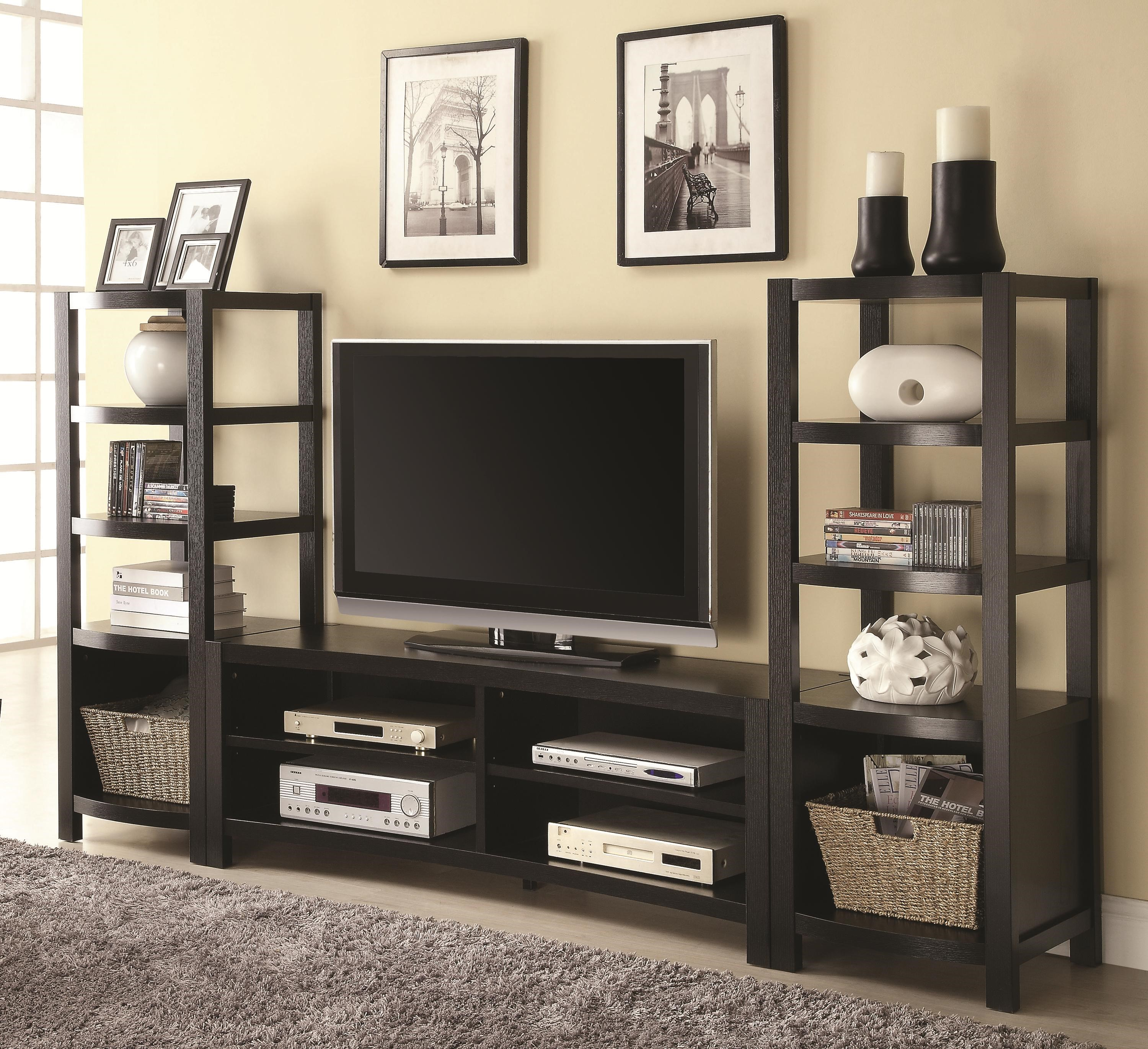 Coaster Entertainment Units Curved Front TV Console U0026 2 Media Towers