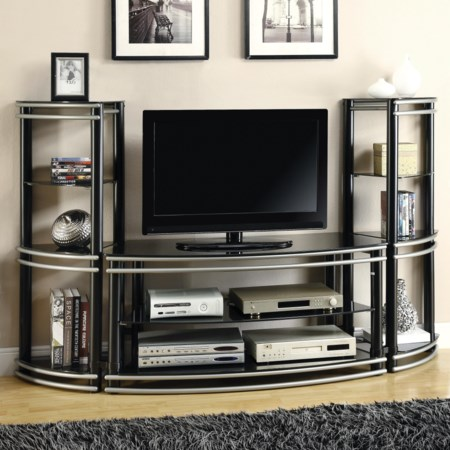 TV Stand & 2 Media Towers