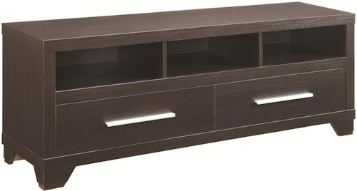 Coaster Entertainment Units TV Stand with 3 Shelves and 2 Doors