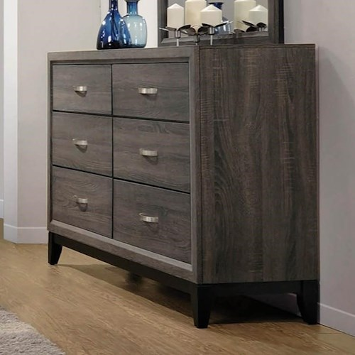 Coaster Watson Contemporary Dresser with 6 Drawers