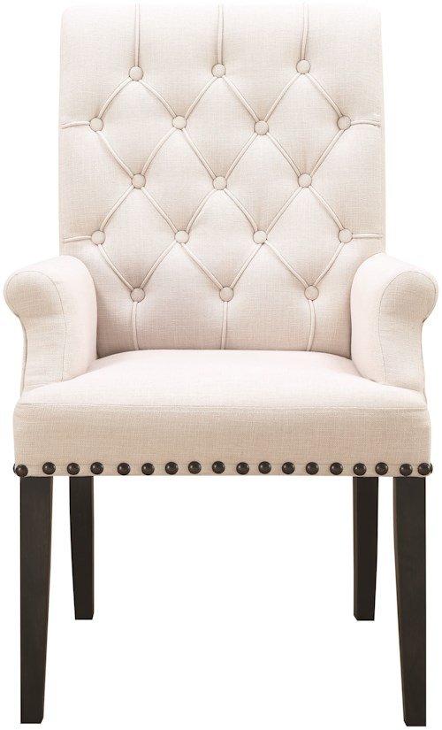 Coaster weber 107283 dining arm chair northeast factory for Furniture 0 percent financing