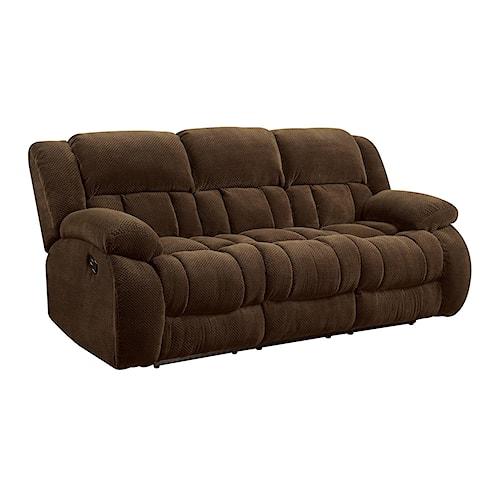 Coaster Weissman Casual Pillow Padded Reclining Sofa