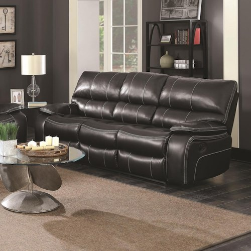 Coaster Willemse Motion Sofa with Drop-Down Table