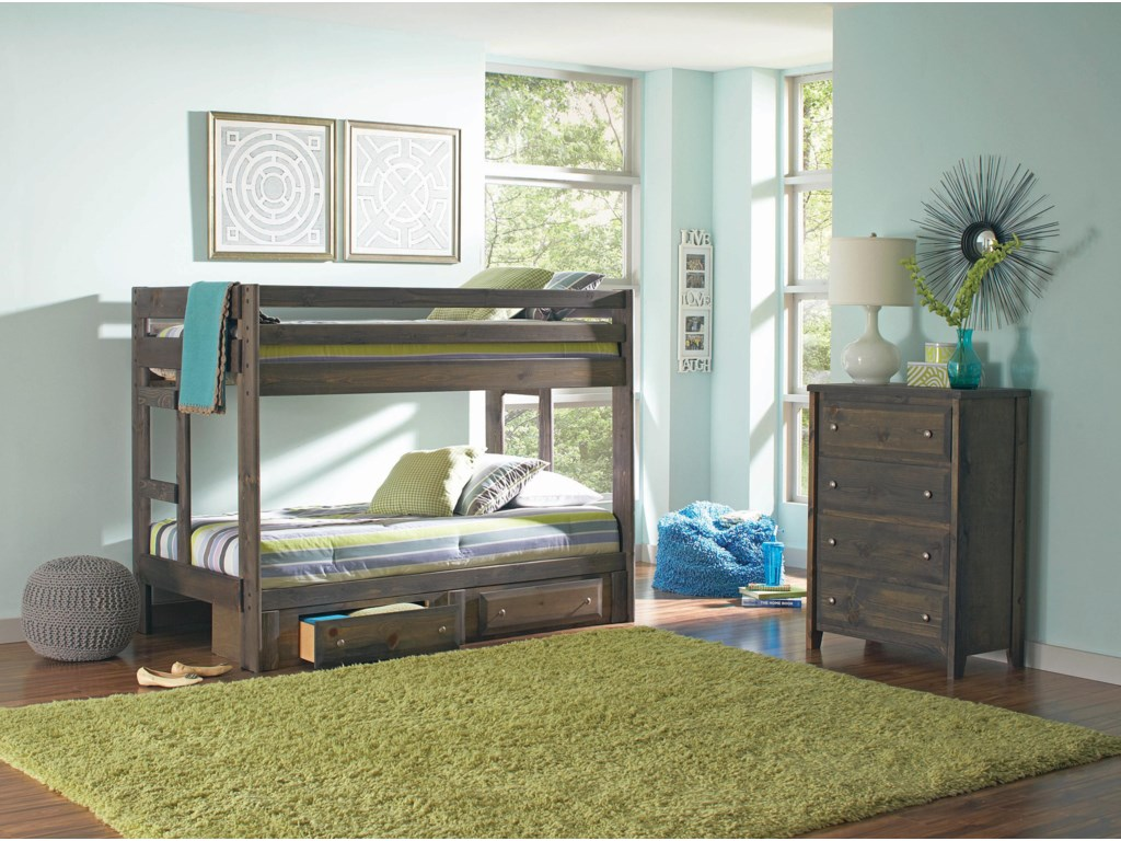 Coaster Wrangle HillTwin over Twin Bedroom Group