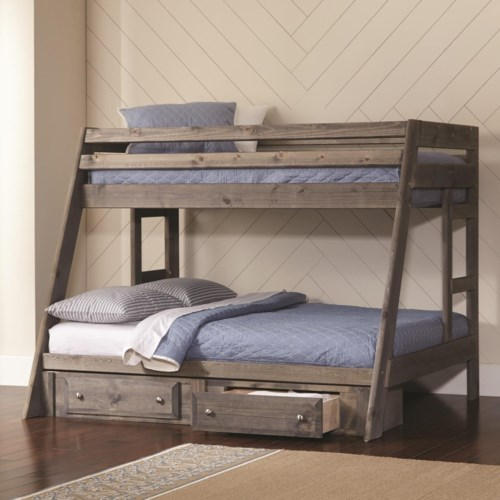 Coaster Wrangle Hill Twin Over Full Bunk Bed Northeast Factory