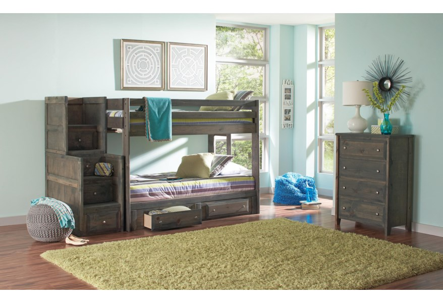 Coaster Wrangle Hill 400832 33 34 Full Over Full Bunk Bed With Under Bed Storage Arwood S Furniture Bunk Beds