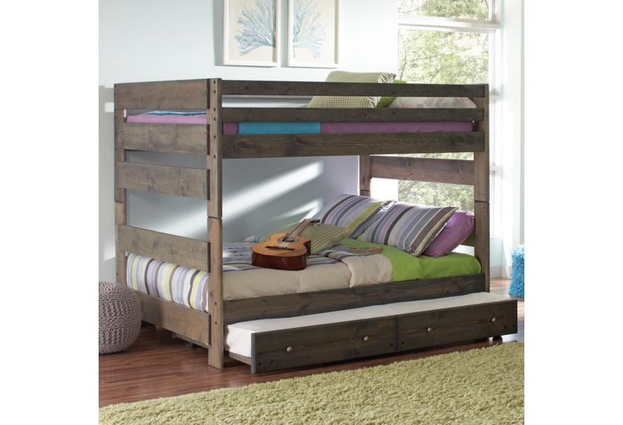 Full Bunk Bed With Pull Out Trundle