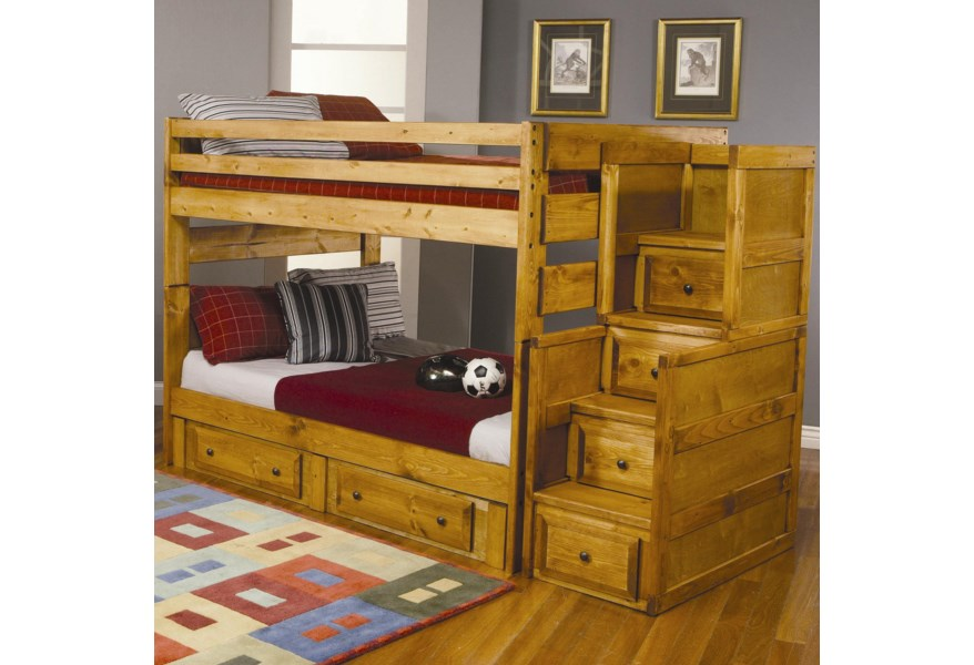 Wrangle Hill Full Over Bunk Bed With Under Storage By Coaster At Rife S Home Furniture