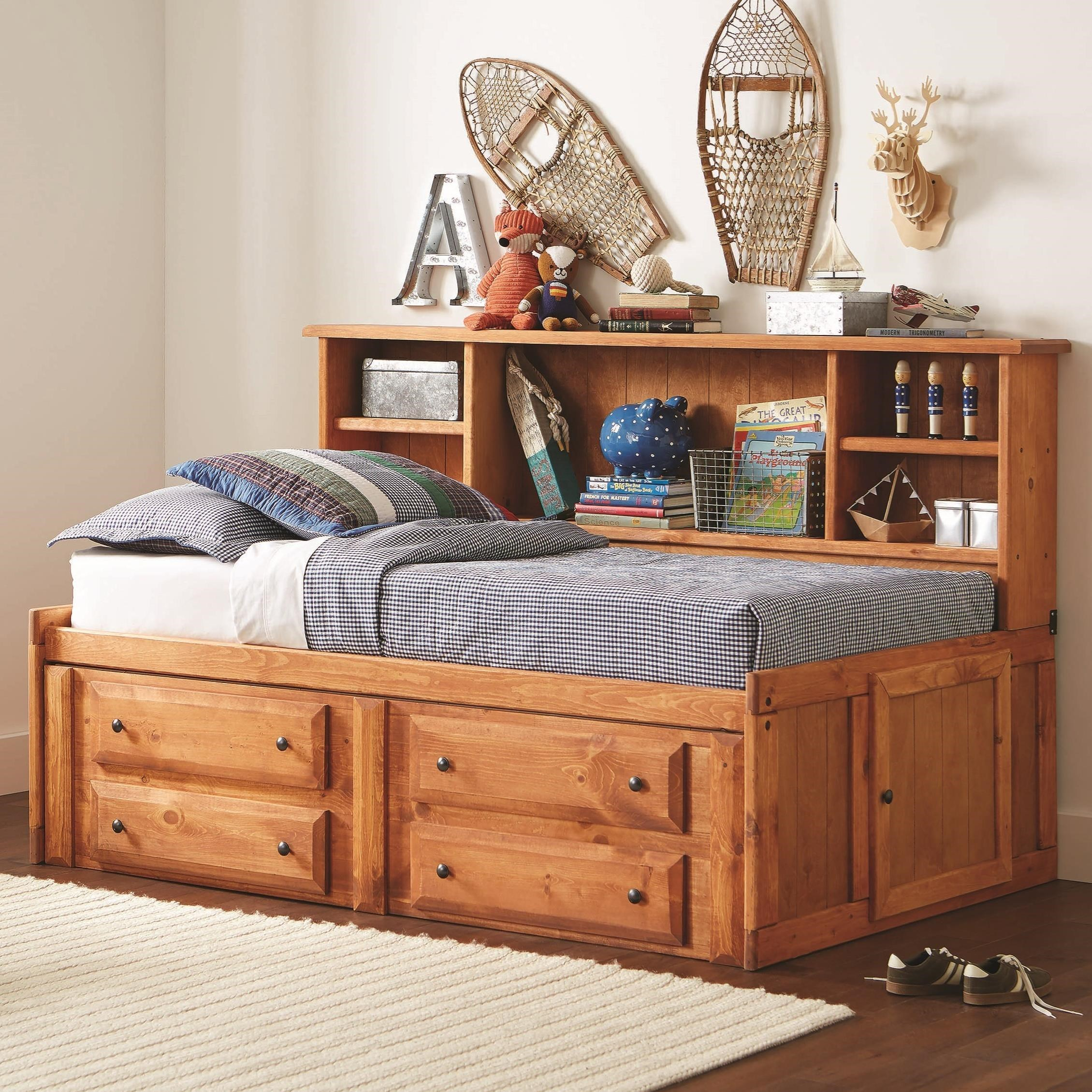 Wrangle Hill Twin Storage Daybed With Bookcase And Underbed