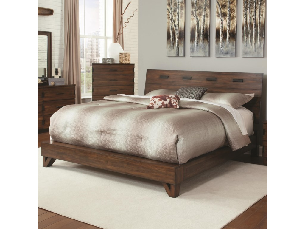 coaster yorkshire rustic queen bed with contemporary design value