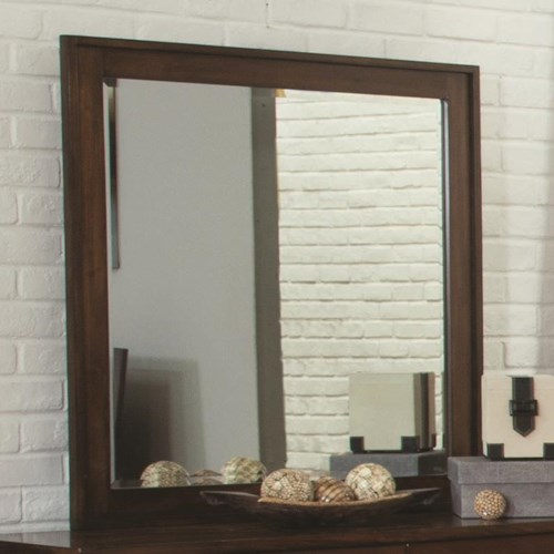 Coaster Yorkshire Beveled Mirror with Wood Frame