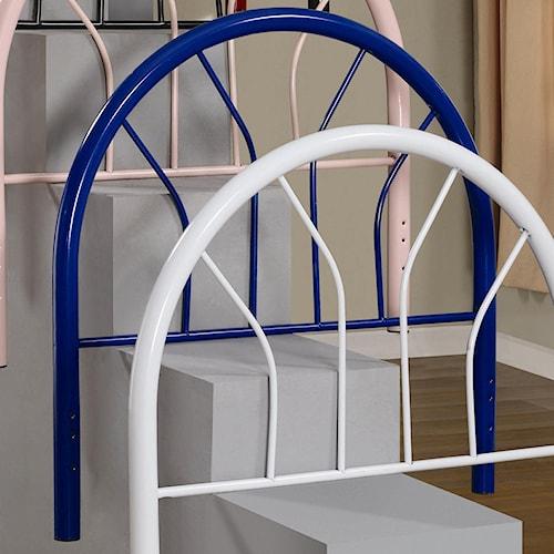 Coaster Youth Beds Twin Blue Metal Headboard