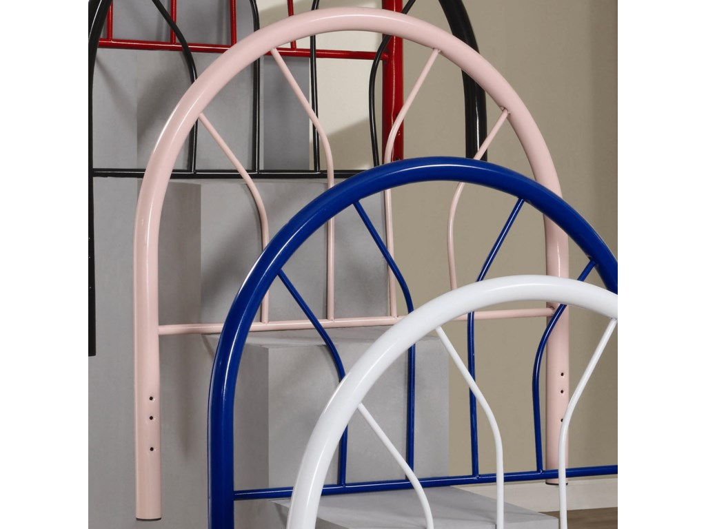Youth Beds Twin Pink Metal Headboard By Coaster