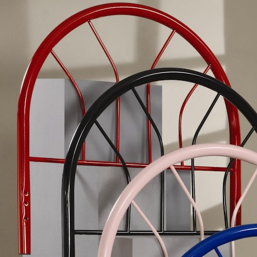 Coaster Youth Beds Twin Red Metal Headboard