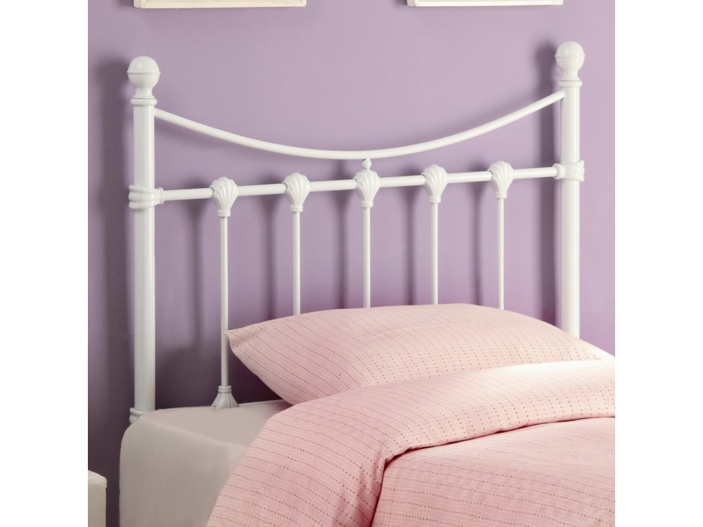 Youth Beds Twin White Metal Headboard By Coaster