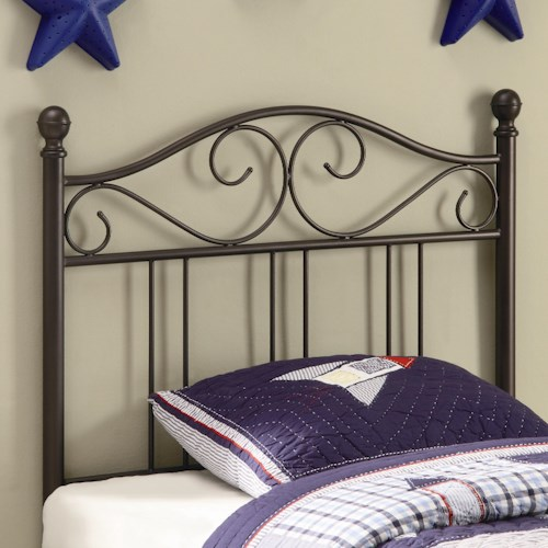 Coaster Youth Beds Transitional Twin Metal Headboard
