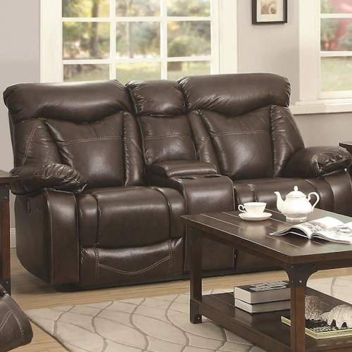 Coaster Zimmerman Power Reclining Love Seat with Cup Holders