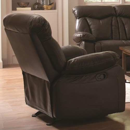 Coaster Zimmerman Recliner with Pillow Arms
