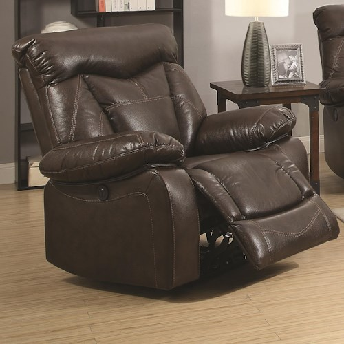 Coaster Zimmerman Power Recliner with Pillow Arms
