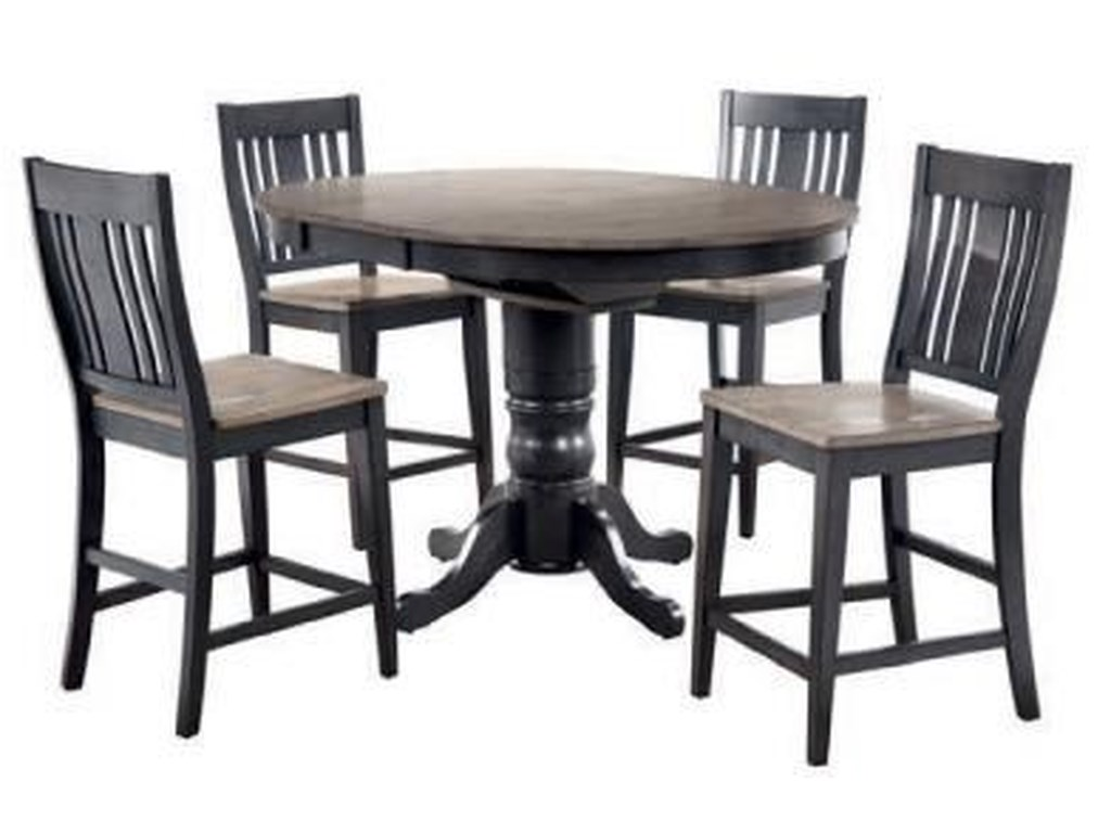 Cochrane Beach House Counter Height PED Table w/ 1 - 15 ...