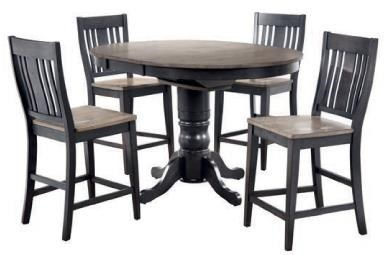 Cochrane Beach House Counter Height PED Table W/ 1   15