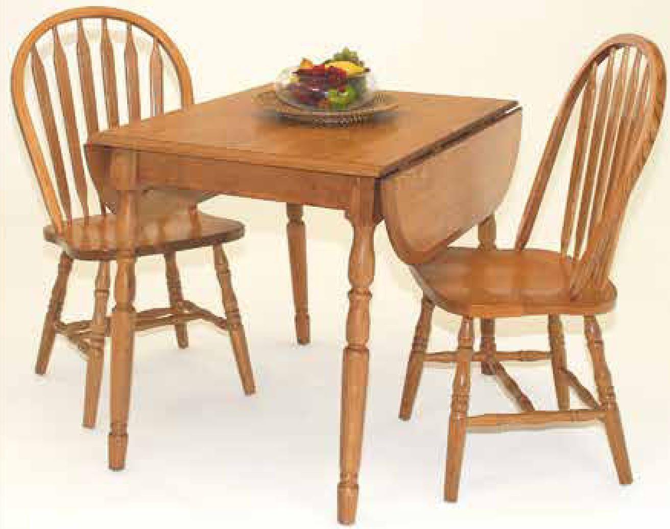 Cochrane Classic Oak Drop Leaf Table W/ 2 9