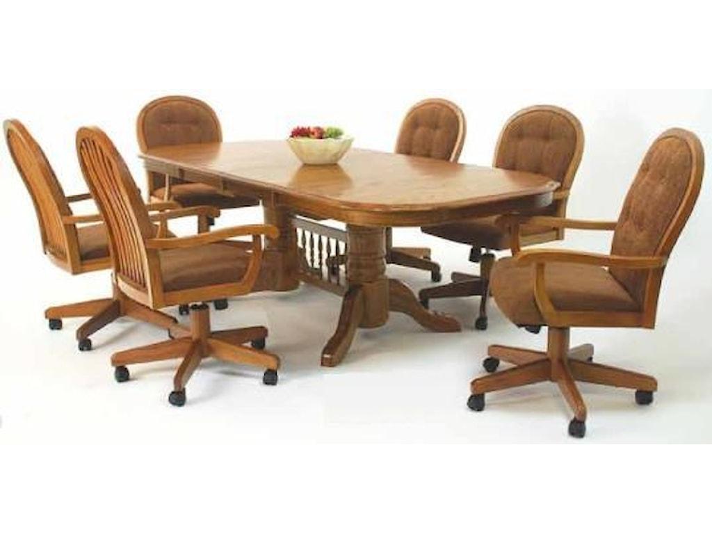Cochrane Classic Oak Table w/ 2-18\