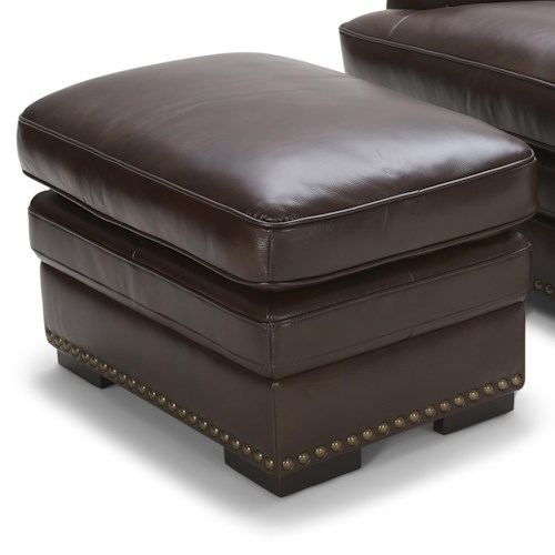 Warehouse M 3301 Brown Leather Ottoman