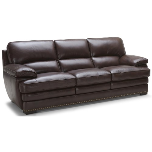 Warehouse M 3301 Brown Leather Sofa