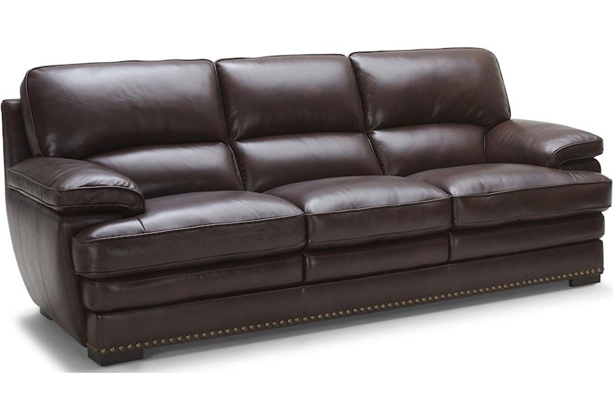 3301 3 Brown Leather Sofa