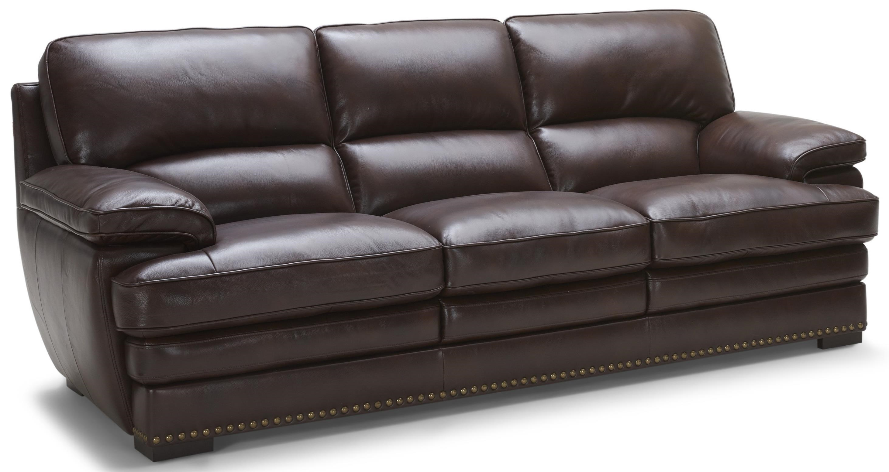 Warehouse M 3301Brown Leather Sofa ...