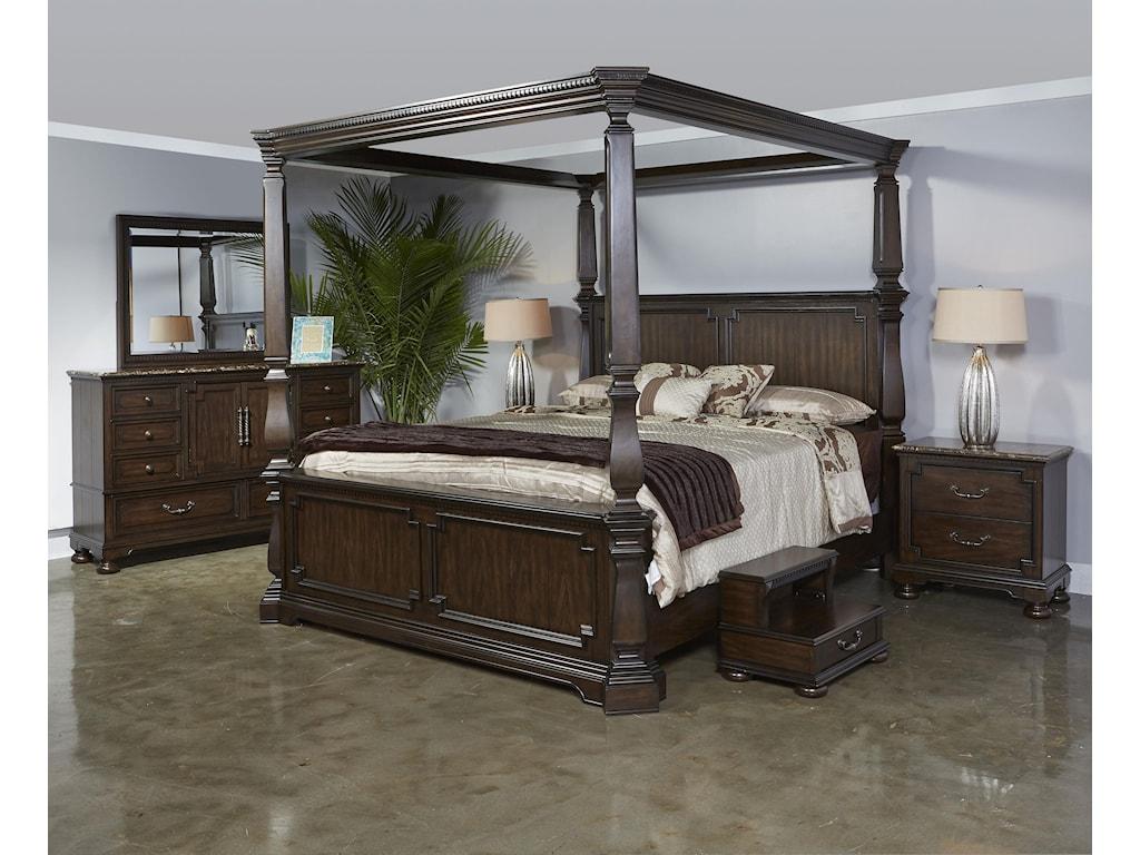 Najarian ViennaQueen Canopy Bed